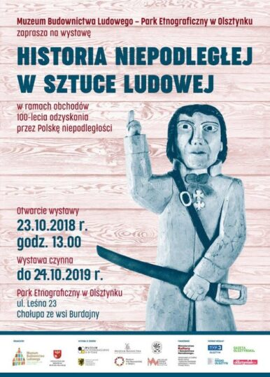Plakat Historia Niepodległej wSztuce Ludowej