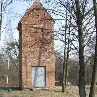 Stacja transformatorowa ze wsi Pawłowo.