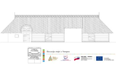 Rysunek techniczny Elewacji stajni z Pempen.