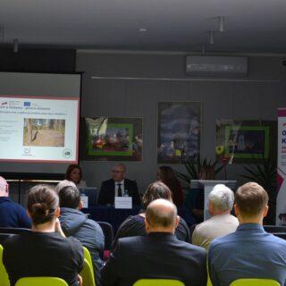 """Konferencja dotyczącą projektu pt. """"Olsztynek-Kaliningrad – od wspólnej historii do przyszłego partnerstwa""""."""
