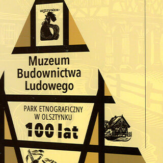 Okładka książki: Muzeum Budownictwa Ludowego Park Etnograficzny w Olsztynku 100 lat.