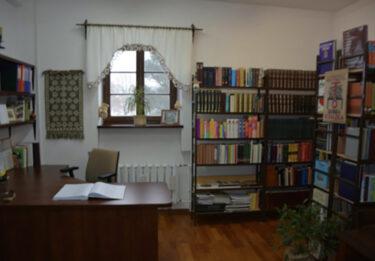 Wnętrze biblioteki.