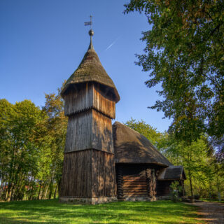 Dzwonnica ze wsi Mańki.