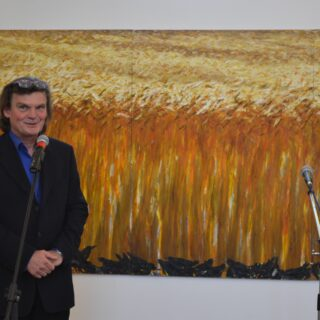 Na zdjęciu autor wystawy